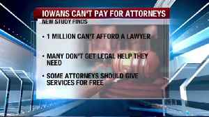 Report shows one million Iowans can't afford a lawyer [Video]