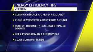 Vectren Provides Efficiency Tips to Conserve Energy [Video]