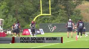 TEXANS PLAYING FOUR SQUARE [Video]