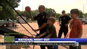 Residents And Law Enforcement Meet With National Night Out [Video]