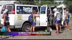 Runners running to spread cancer awareness [Video]