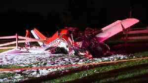 News video: Plane crash in New Jersey