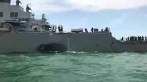10 Sailors Missing in Collision of USS McCain [Video]
