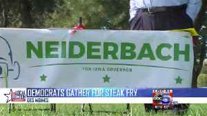 Democrats gather for steak fry cookoff [Video]