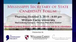 Debate set to take Place at William Carey in Hattiesburg for Secretary of State Candidates [Video]