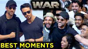 News video: Hrithik Roshan, Tiger Shroff, Vaani Kapoor BEST FUNNY Moments From WAR Movie Success Party