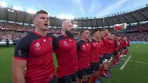 News video: England's passionate national anthem at Rugby World Cup 2019