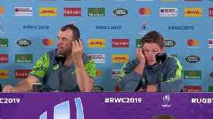 Cheika and Hooper post match press conference at Rugby World Cup 2019 [Video]