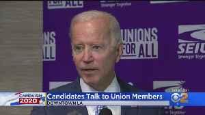 Biden Calls Trump 'Unhinged' Over Ukraine Allegations As SEIU Summit Kicks Off In LA [Video]