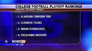 College football playoff rankings [Video]