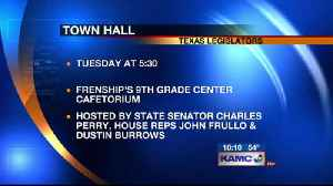 Perry,  Frullo & Burrows to Host Town Hall [Video]