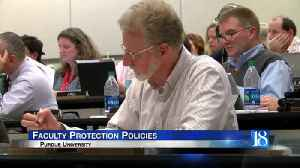 Purdue Senate takes steps to ensure faculty safety [Video]