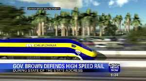 Governor Brown went to bat for California's high speed rail [Video]