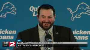 Matt Patricia makes first appearance with Detroit Lions [Video]