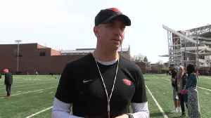 Web Extra: OSU Offensive Coordinator Brian Lindgren (4/9/18) [Video]