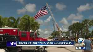 Palm Beach County Fire Rescue celebrated their 35th anniversary on Saturday [Video]