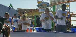Competitors battle to eat as many tacos as possible in Santa Monica, California [Video]