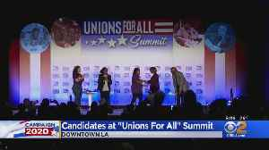 3 More Democratic Hopefuls Speak To 'Unions For All' Summit Downtown [Video]