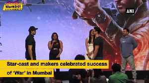Hrithik, Tiger and Vaani celebrate record-breaking reponse of War [Video]