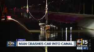 Man crashes into canal near Palo Verde Park [Video]