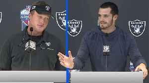 Raiders Post-Game: Coach Jon Gruden and Quarterback Derek Carr [Video]