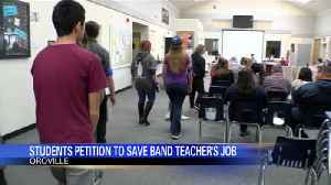Students petition to save band teacher's job [Video]