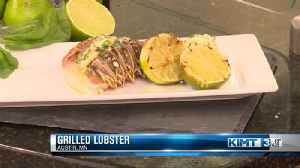 Grilled Salt Block Lobster with a Lime Basil Butter [Video]