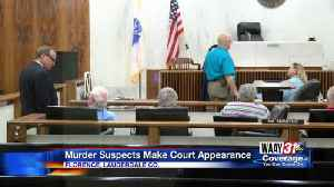 Accused murderers have their first day in court in Florence [Video]