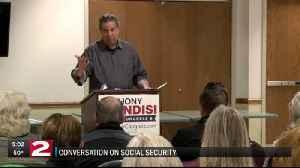 Brindisi and Jon 'Bowzer' Bauman talk Social Security in Utica [Video]