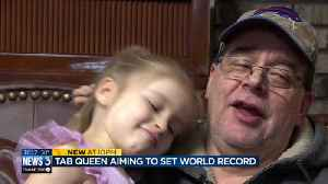 'We're in it for the long haul again': Portage girl trying for new pop tab record for second time [Video]