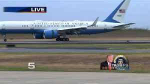 President Trump Arrives in McAllen [Video]