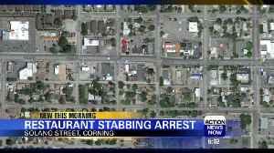 Corning Stabbing Arrest [Video]