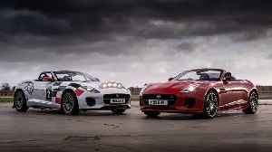 Jaguar F-Type Chequered flag and F-Type Rally car in Kenilworth [Video]