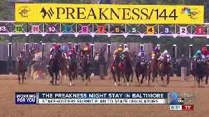 Baltimore City and Stronach Group turn in plan to keep the Preakness Stakes in Baltimore [Video]