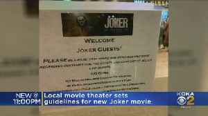 Local Theater Sets Guidelines For New Joker Movie [Video]