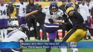 Kicker Justin Tucker's 4 Field Goals Helps Ravens Beat Steelers In OT [Video]