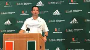 News video: Manny Diaz: 'Forty-two points to Virginia Tech, that's not the Miami standard'