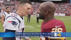 Redskins Adrian Peterson, Donald Penn Both Asked Tom Brady For His Jersey On Sunday [Video]