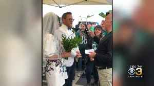 Eagles Fans Get Married During Tailgate Sunday [Video]