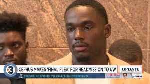 Cephus, former teammates make 'final plea' for readmission to UW-Madison [Video]