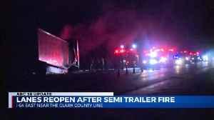 Semi Trailer Fire [Video]