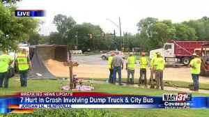 Seven injured in Huntsville wreck between city bus and dump truck [Video]