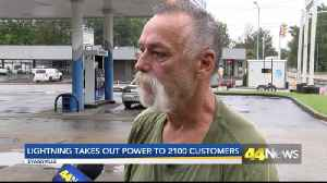 lightning strike takes out 2,100 customers [Video]