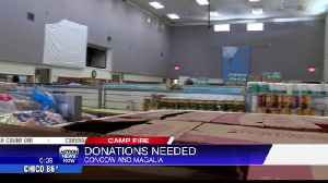 Camp Fire donation centers asking for food and supplies [Video]