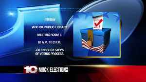 Leaders to hold mock election at Vigo County Public Library [Video]
