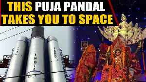 Durga Puja pandal pays respect to ISRO scientists | OneIndia News [Video]