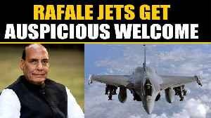 News video: Rajnath Singh to perform Shastra puja on Rafale jets  | OneIndia News