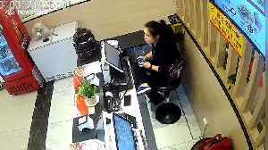 Out-of-control car crashes into restaurant in China injuring two receptionists [Video]