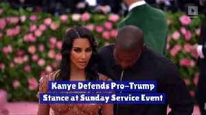 Kanye Defends Pro-Trump Stance at Sunday Service Event [Video]
