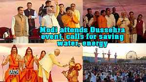 Modi attends Dussehra event, calls for saving water, energy [Video]